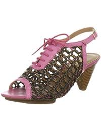 Via Uno Woven Synthetic Leather /Leather Noble 21123504 - Sandalias de cuero para mujer