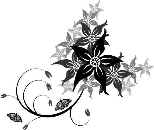 ME125 Tribal Ast Pflanze Blume Ranke 20 x 17 cm ()