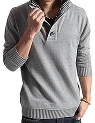 Moin Jersey de Cuello Alto Suéter de Manga Larga Vestido del Hombre