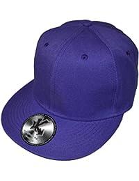 Underground Kulture Casquette de Baseball Réglable Tout Violet (Plain Purple Snapback)