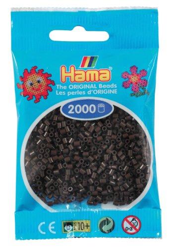 Hama Perlen 501-12 - Mini-Perlen, 2000 Stück braun