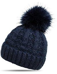 3ce6fe430adbdd Suchergebnis auf Amazon.de für: mütze mit fellbommel - Blau: Bekleidung