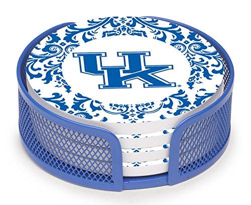 Thirstystone vuky3-ha27Steingut Drink Untersetzer-Set mit Halterung, University of Kentucky Muster -
