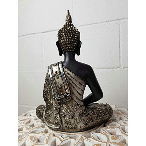 dcasa - Figura buda de suerte sentado resina 30 cm decoracion ... 80a4142f55e