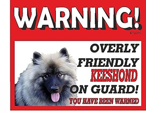 Keeshond GUARD DOG METAL SIGN 154