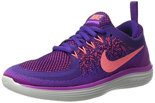 Nike - Free Run Distance 2, Scarpe da corsa Donna Viola (Hyper Grape/lava Glow-court Purple-hot P)