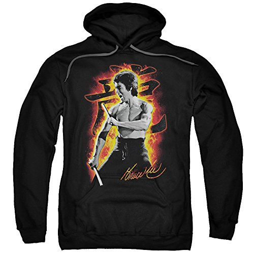 Bruce Lee Martial Arts Dragon Fire Adult Pull-Over Hoodie