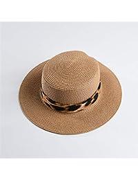 b44319ee6dc7b GUOMAOUP Sombrero Nuevos Hombres De Panamá Sombrero De Panamá Leopardo  Sombrero De Paja Señoras Visera Hombres…