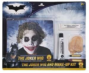 The Joker Wig & Make Men's Fancy Dress Kit