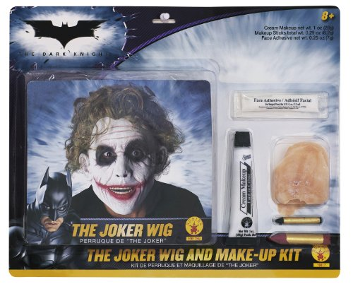 Joker 'Batman' Make Up und Perücke Set für (Dark Joker Kostüme Knight)