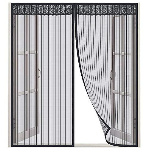 Lictin Mosquitero Magnético para ventana - Dimensiones 130 x 150 CM, adecuado para ventanas de 130 cm - Red de excelente calidad, Negro