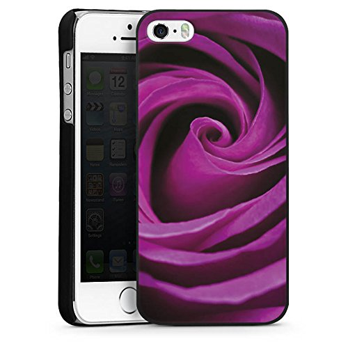 Apple iPhone 4 Housse Étui Silicone Coque Protection Lilas Rose Fleur CasDur noir