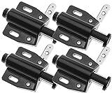 4piezas blanco empuje magnético para abrir sistema amortiguador para armarios cajones negro