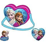Disney - La Reine Des Neiges Sac Forme Cœur - Rose - Taille Unique