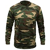 Mens-Game-Camouflage-Camo-Army-Woodland-Long-Sleeve-T-Shirt-Top-Hunting-Shooting