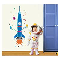 KiKa Monkey Colorfulworld XL. Photo Frame Rocket Growth Chart Tape Measure Height Chart Wall Sticker for Child
