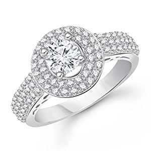 V. K. Jewels Silver Rhodium Plated Ring For Girls