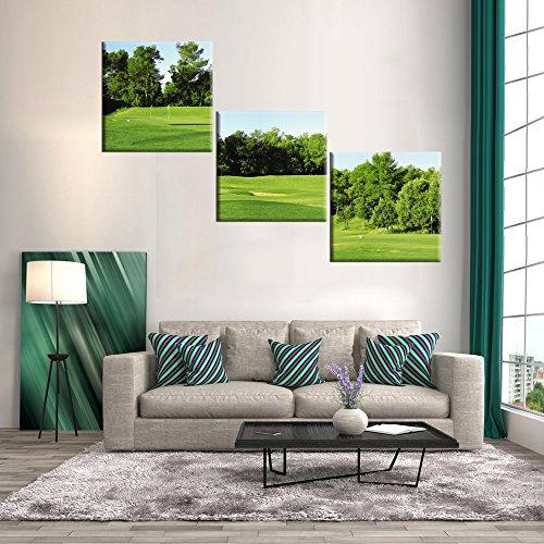 Baum und Blätter Gemälde auf Leinwand 3Panel, canvas, Artwork-06, 60''Wx20''H