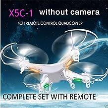 Cewaal X5C-1 Quadcopter Drone sin cámara para largo tiempo de vuelo, 2.4Ghz 6-Axis Gyro 3D gira Drone con modo sin cabeza diseñado para principiantes