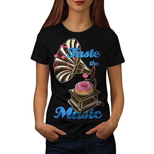 Geschmack Komisch Krapfen Musik Damen S-2XL T-shirt | Wellcoda Black