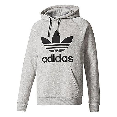 adidas Herren Trefoil Kapuzenpullover, Medium Grey Heather, L