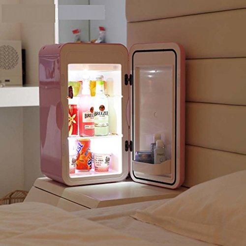 SL&BX Mini refrigerador doméstico, Pequeña nevera 16l oficina dormitorio mama leche cosmética medicina nevera-rosado 27x26.6x49.3cm(11x10x19inch)