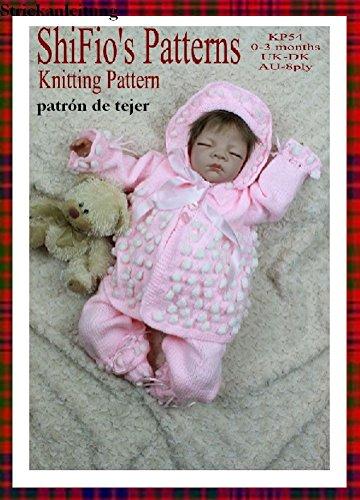 patrón para dos agujas – KP54 - chaqueta matinée, pantalones, sombrero y botitas/