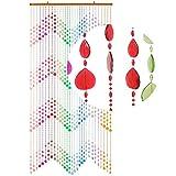 HAB & GUT (DV0193) Türvorhang Form: KLUNKER, Farbe: MEHRFARBIG, Material: Kunststoff, Größe: 90 x 200 cm