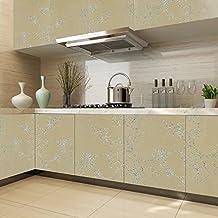 KINLO Papel Pegatina Autoadhesivo 0.61 x 5M PVC de Cocina/Mueble/Puerta/Armario/Pared Pintado Adhesivo para Muebles - Amarillo