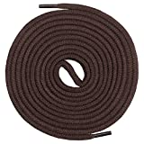 Mount Swiss© premium shoelace, round laces made of 100% cotton, tear-resistant, diameter 3 mm - 4 mm, 12 colours, length 45 - 200 cm., Adult (Unisex), Ms-sb-01, brown