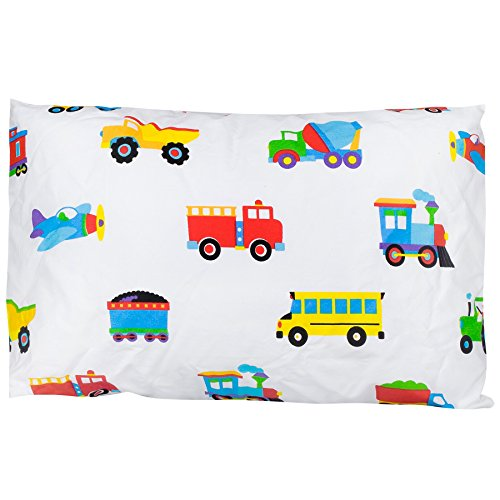 wildkin-olive-kids-trains-planes-trucks-hypoallergenic-toddler-pillowcase-13-1-2-x-19-by-wildkin