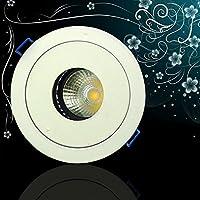 Hoobor House lampada da soffitto LED 12Wcob Embedded Led luci il soggiorno del fascio di luce di lampada AC V85-265Embedded luce Cabinet Ultra brillante 9679, bianco,12Wled bianco