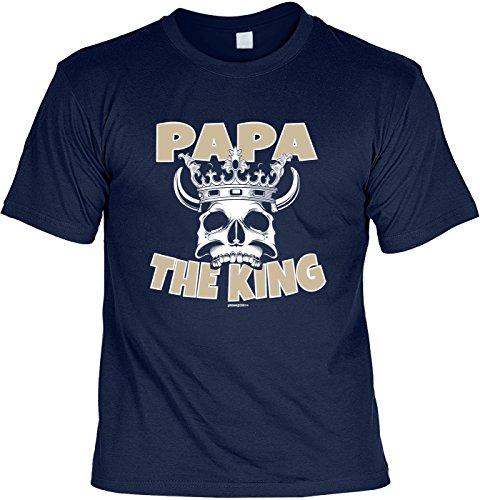 Fun T-Shirt zum Vatertag: Papa, the King - Geschenk, Geburtstag, Vatertagsausflug - navyblau Navyblau