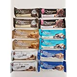 Quest Nutrition Protein Bar Mixed Box of 12x 60g (inches)–Cookies & Cream, 3X Apple Pie, 3x Chocolate Brownie, Chocolate Chip Cookie Dough)