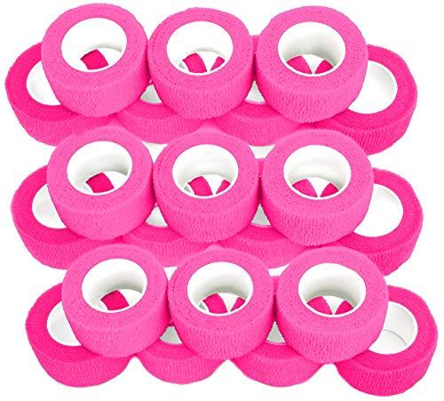 Fingerverband, Fingerpflaster, Selbsthaftende Fingerbandagen, Pflaster 2,5 cm breit, pink - 21 Stück