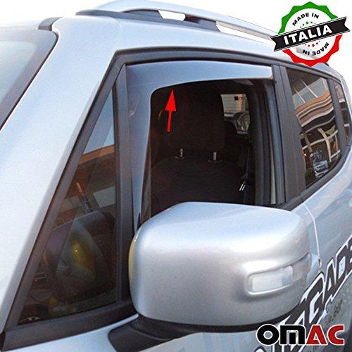 Omac GmbH Jeep Renegade Windabweiser Regenabweiser 2 tlg Satz Vorne ab 2014