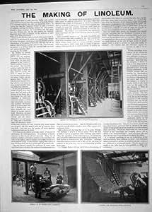 industrie linoleum zement 1904 der maschine einlegt k che haushalt. Black Bedroom Furniture Sets. Home Design Ideas