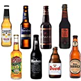 Cervezas Especiales y Cervezas Internacionales Pack de 8 - Cubanisto cerveza, Desperados Mojito, Mahou Maestra, Mahou Negra, Oharas Stout, Duvel Cerveza, 1906 Black Coupage, Mahou Barrica
