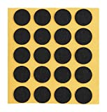peha® Filzgleiter / Kratzschutz für Vasen und Deko-Gegenstände selbstklebend, SOFT - 1,0 mm stark, schwarz | Ø 15 mm (20 Stk.)