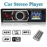 Audew Stereo Auto Autoradio Radio FM LCD Lettore MP3 USB SD Card AUX Ingresso Auto