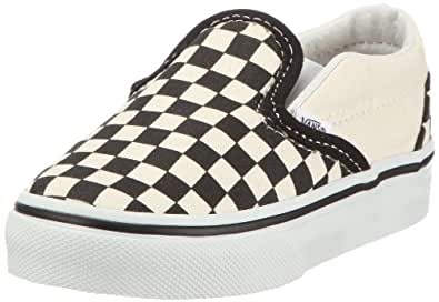 Vans Classic, Unisex-Childs' Low-Top Trainers, Black/White Checker, 3.5 UK