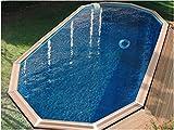 Waterclip Myconos Holz-Pool, 955x 477x 147cm, oberirdisch, zehnteckig