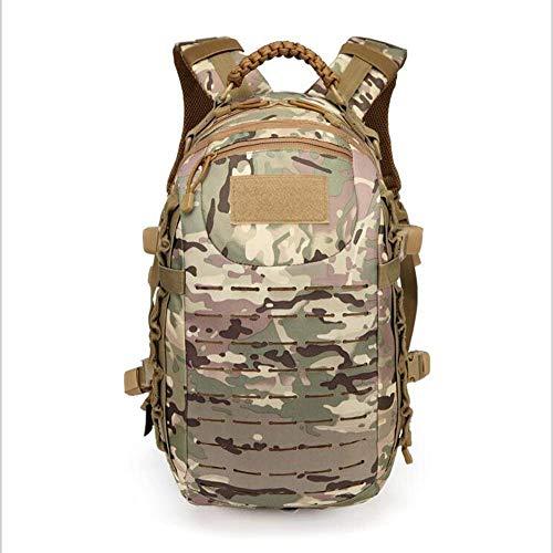 Pureed Rucksack Kleiner Wasserdicht Leicht Mode Stylisch Kurze Wandern 25L Tactical Outdoor Tasche (Color : Camo, Size : 26 * 14 * 47Cm)