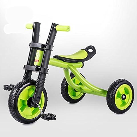 KA-ALTHEA- Los niños del triciclo del bebé niños de la bicicleta de la bicicleta Cochecito Coches 2-5 años Scooter niño monopatín bicicleta triciclo Walker ( Color : Verde