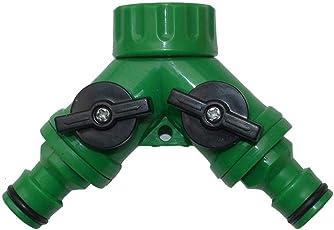 2-Wege-Verteiler Wasserhahn Splitter Y Ventil Schlauch Wasserverteiler Wasserdurchfluss regulier und absperrbar Garten Wasserhahn Schlauch Splitter für Praktischen Einsatz im Garten Futurepast