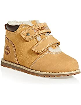 Timberland Pokey Pine Warm Lined Hook & Loop Wheat Nubuck Infant Ankle Boots