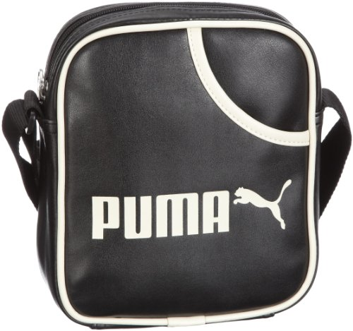 PUMA Uni Umhängetasche Campus Portable, black-birch, UA, 2 liters, 070392 01 black-birch