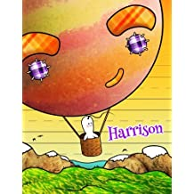 "Harrison: Personalized Book with Child's Name, Primary Writing Tablet, 65 Sheets of Practice Paper, 1"" Ruling, Preschool, Kindergarten, 1st Grade, 8 1/2"" x 11"""