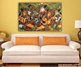 Kerala Mural Art Wall decor painting Canvas painting Unframed Size (23 x 19 inch) By Printelligent