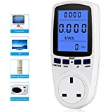UK Plug Power Meter Energy Voltage Amps Watt Electricity Usage Monitor Analyzer with Digital LCD Display Reduce Your Energy Costs 230V